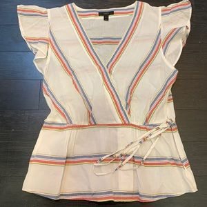 J. Crew rainbow cotton top